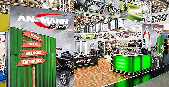 Ansmann Racing Messestand gestaltung