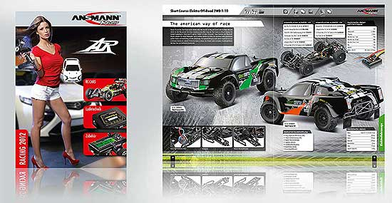 Ansmann Racing Kataloggestaltung