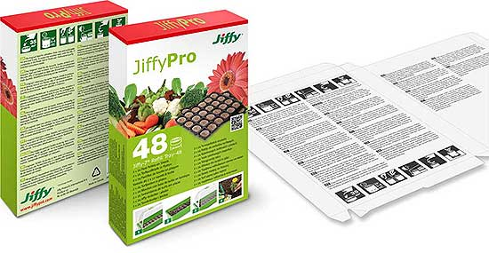 Verpackungsdesign Jiffy Refill Trays